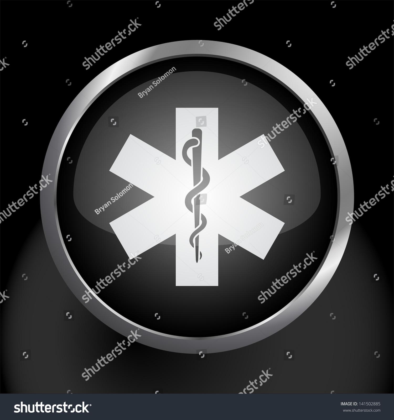 Snake Staff Common Health Medical Symbol Stock Vector 141502885