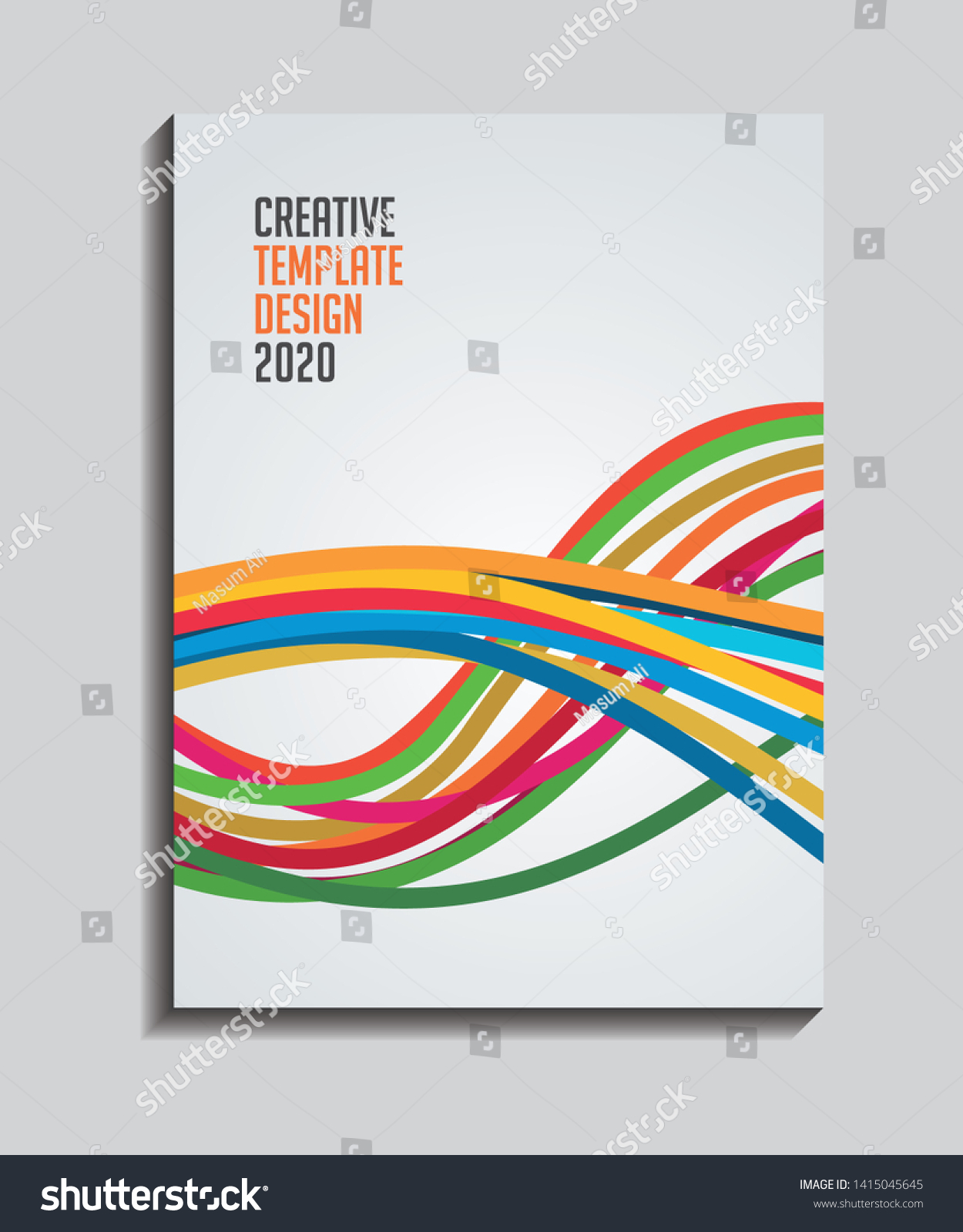 Creative Brochure Magazine Book Cover Page Stock Vector Royalty Free 1415045645