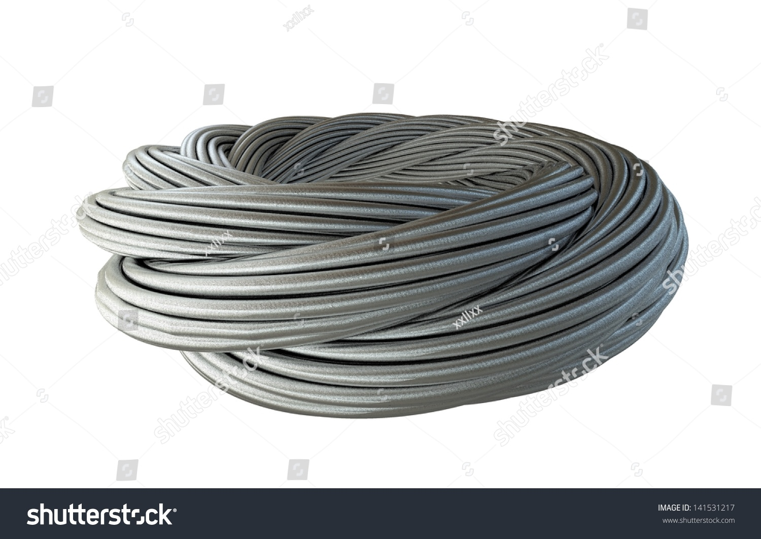 Metal Thick Wreath Twisted Wire Cable Stock Illustration 141531217 ...