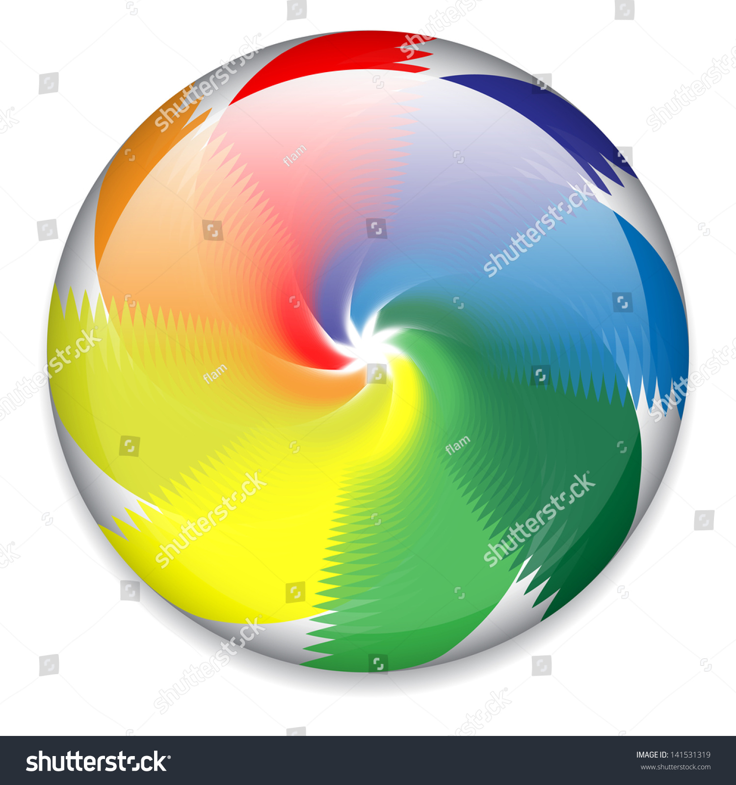 Spinning Candy Wheel Stock Vector (Royalty Free) 141531319