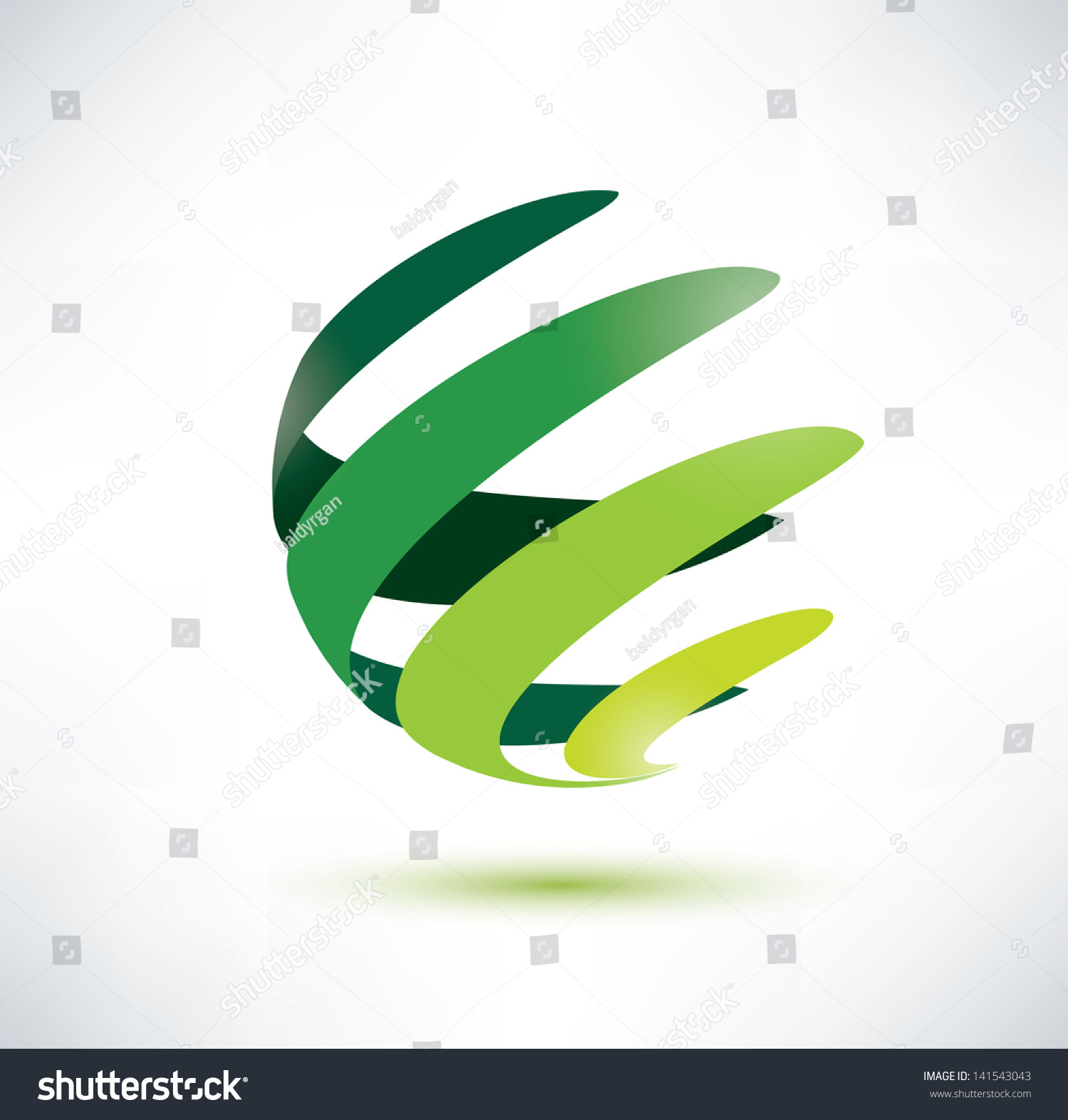 Abctract Green Globe Icon Ecology Nature Stock Vector ...