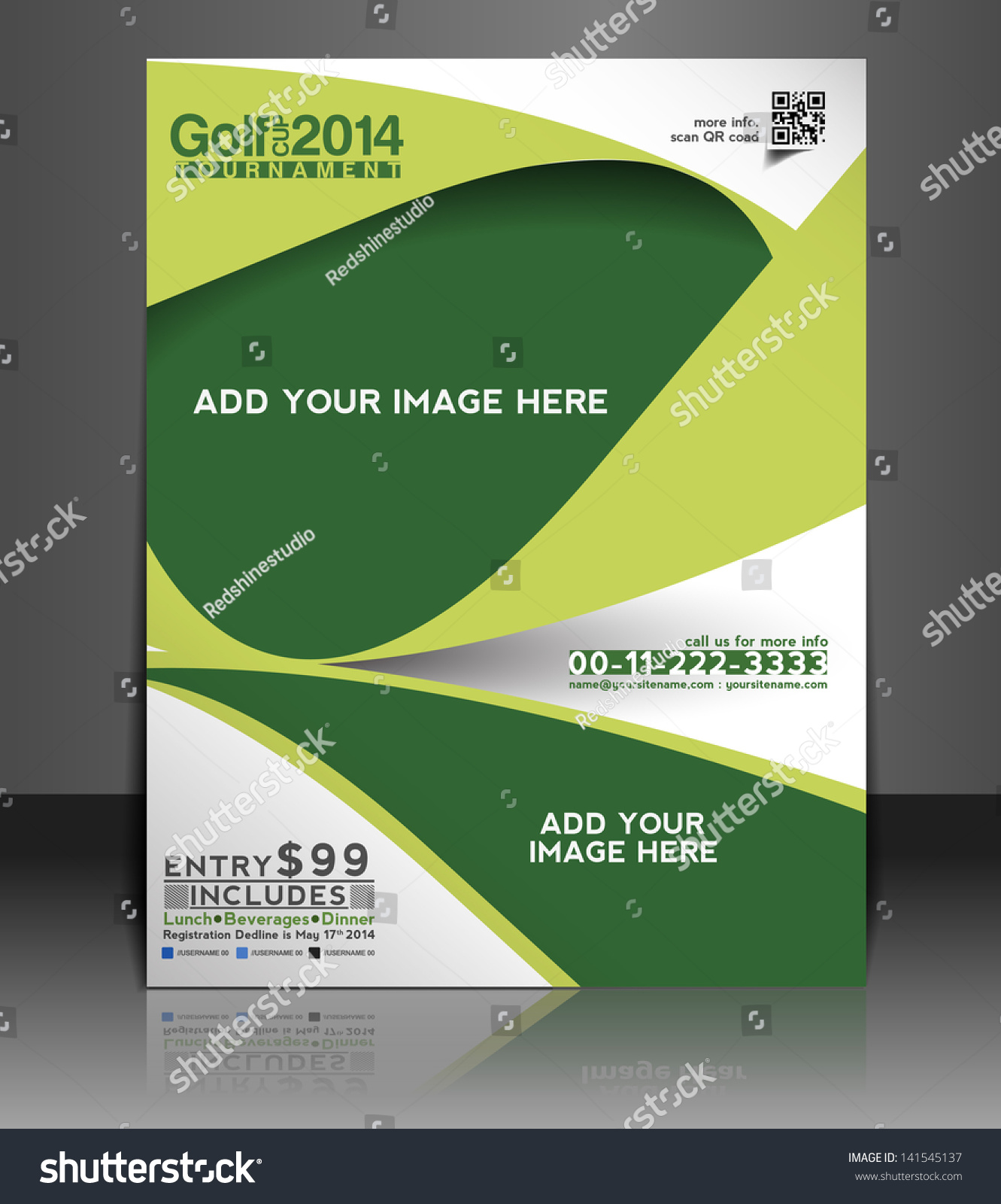 Vector Brochure Flyer Magazine: Vector Golf Brochure Flyer Magazine Cover Stock Vector