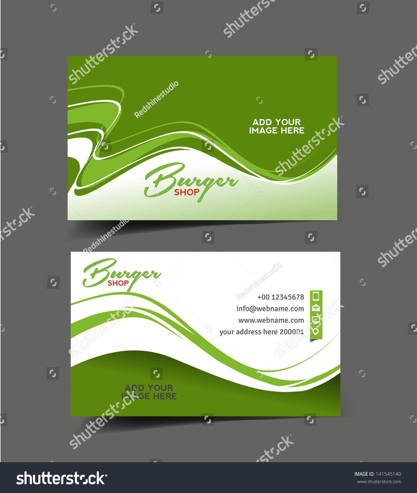 vector business card set restaurant card stock vector