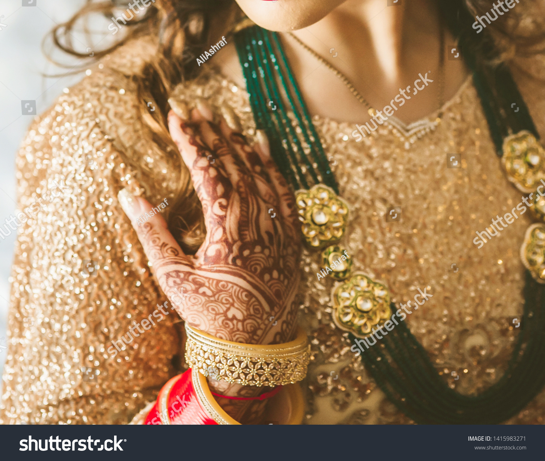 Pakistani Indian Bridal Showing Wedding Mehndi Stock Photo Edit