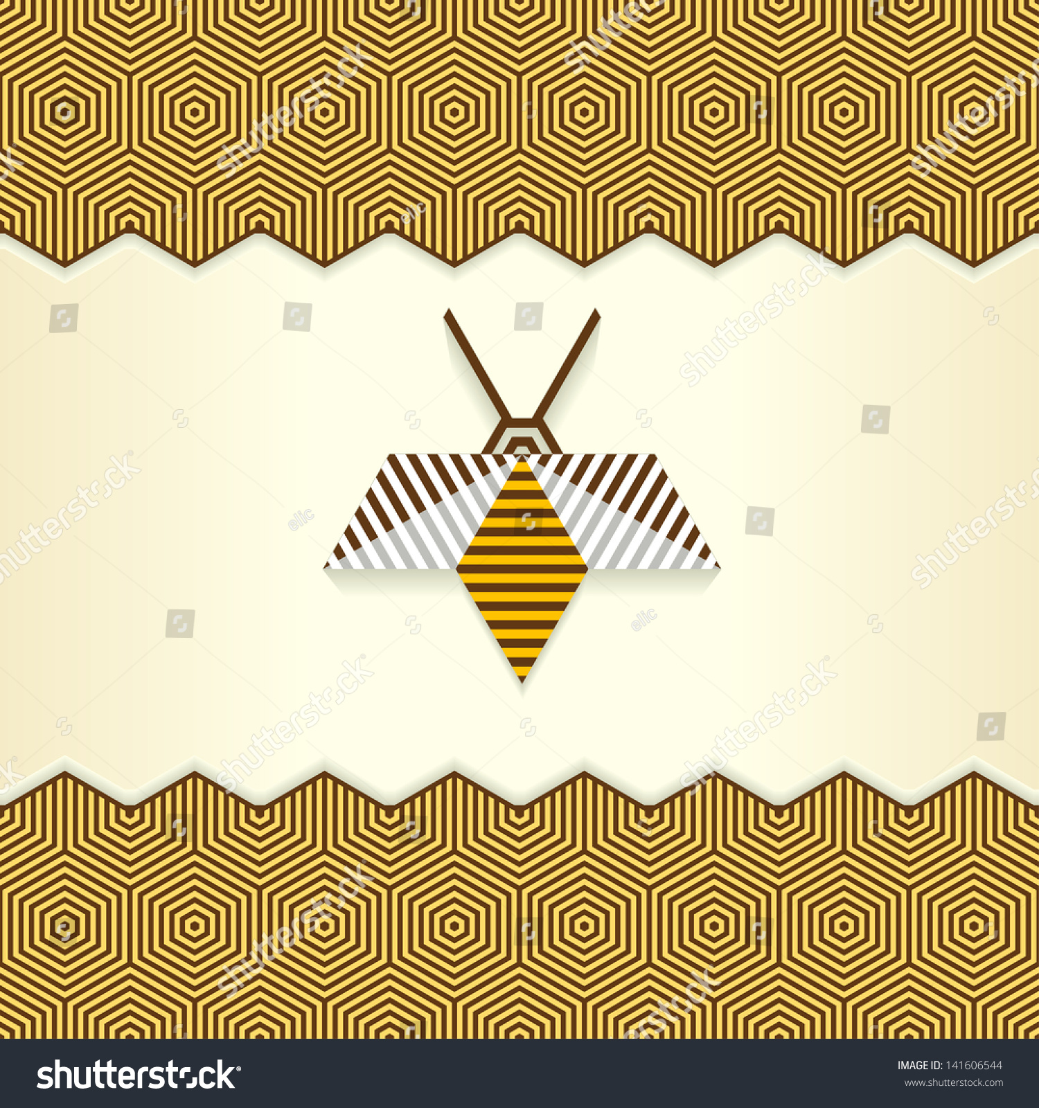geometric yellow background illustration - photo #30