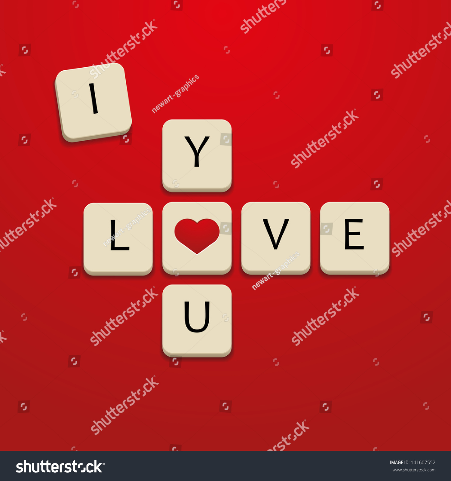 Love You Letters Stock Vector Shutterstock