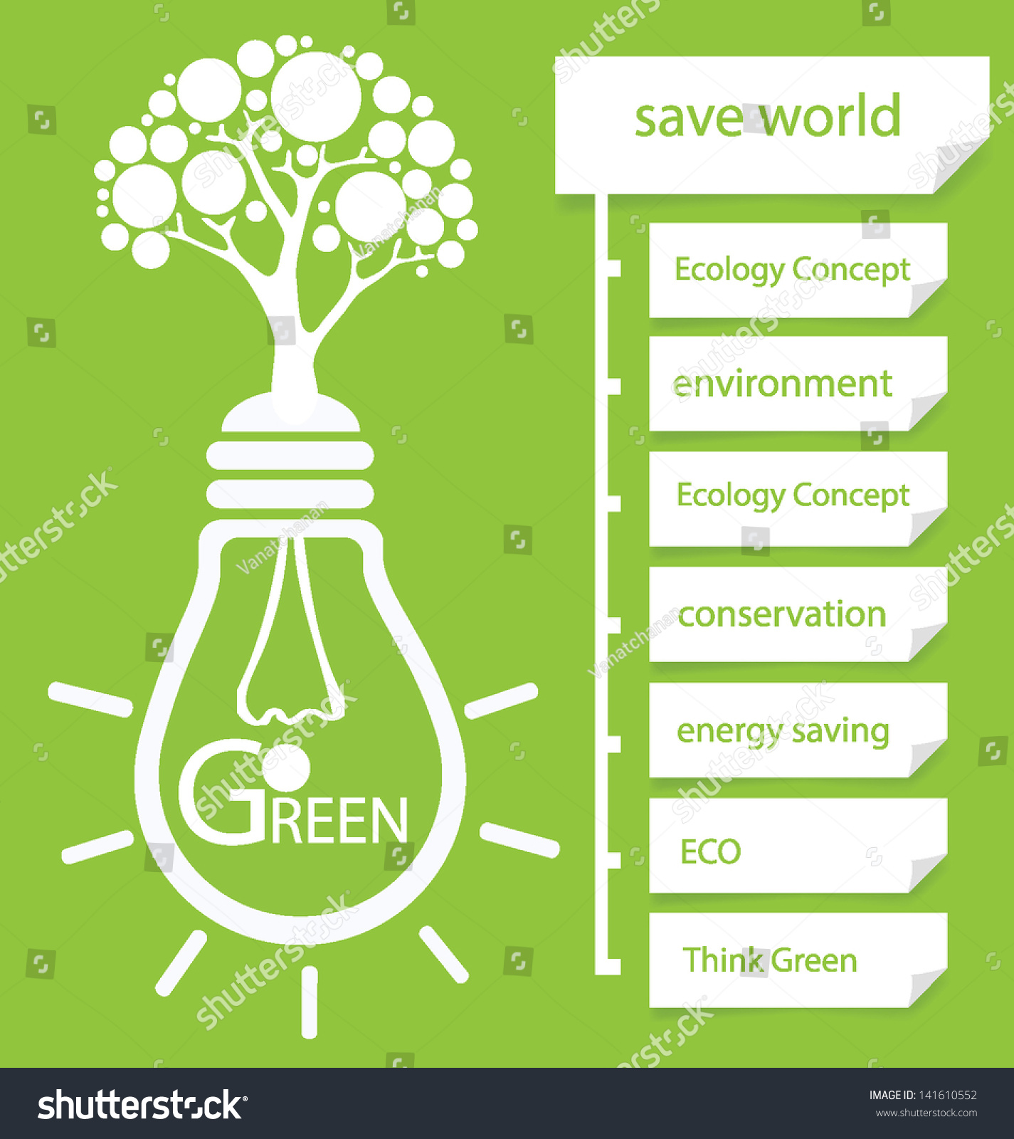 go green design template diagram vector illustration 141610552