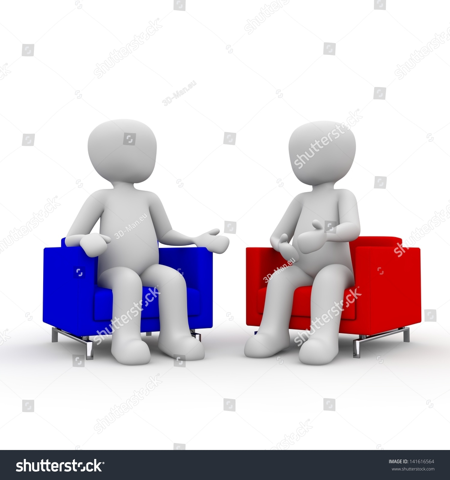 Two People Talk Each Other About Stock Illustration 141616564 ...