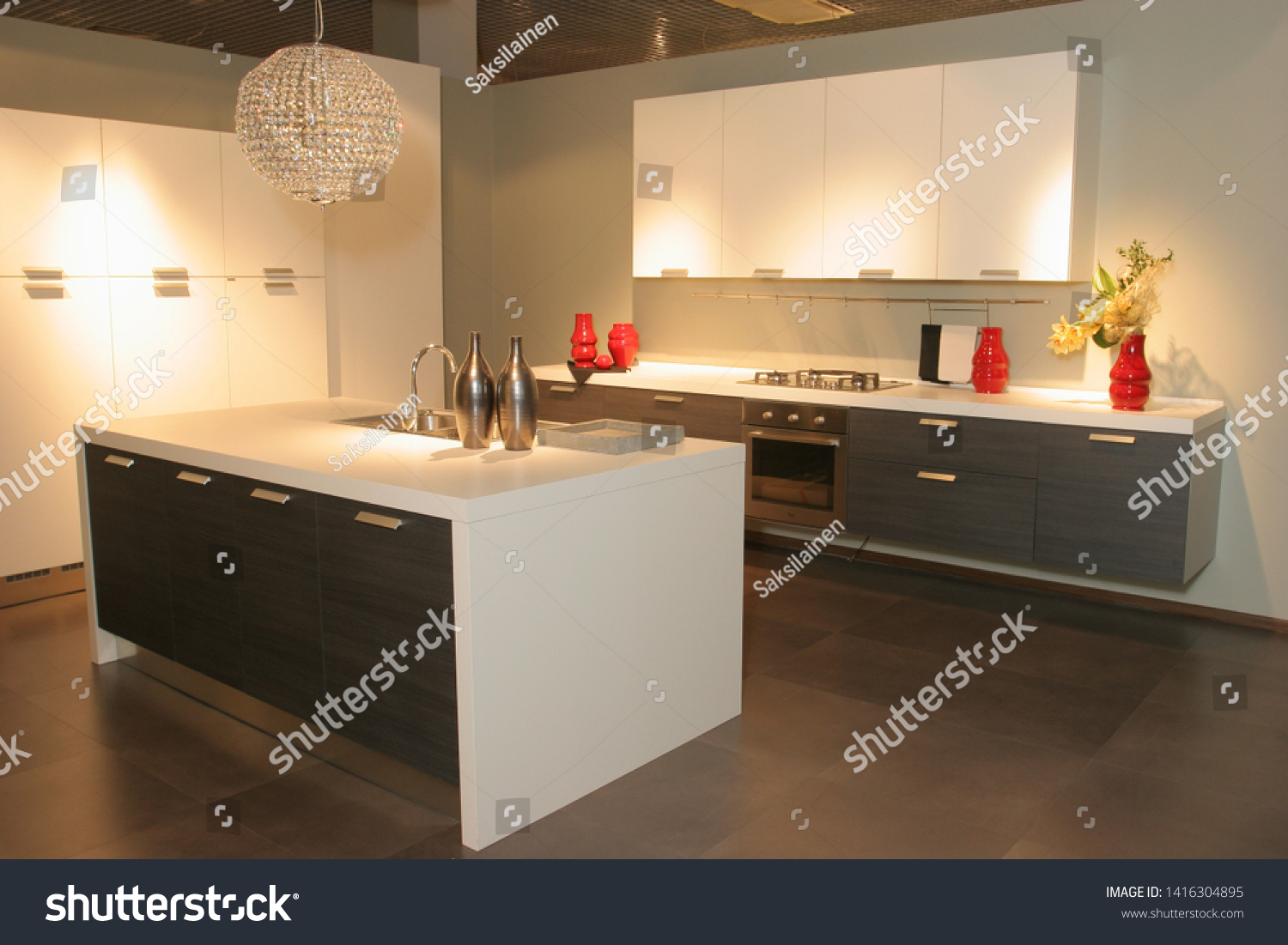 Kitchen furniture. Kitchen. Furniture exhibition. Furniture store #1416304895