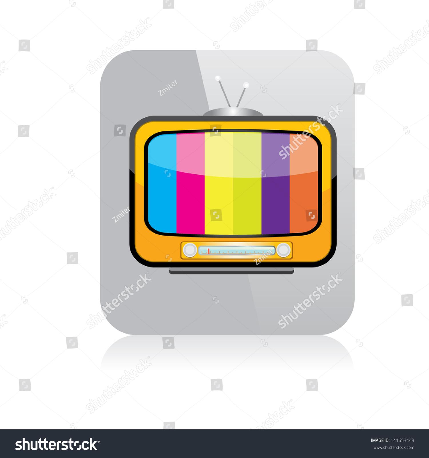 Vector Tv Icon Online Tv Symbol Stock Vector (Royalty Free) 141653443