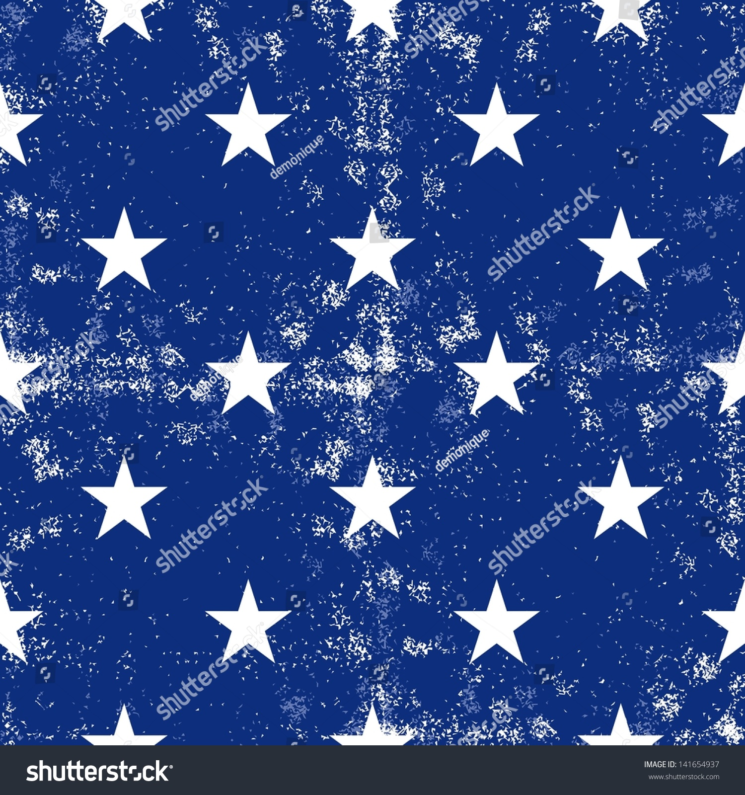 Little White Stars In Regular Horizontal And Vertical Rows