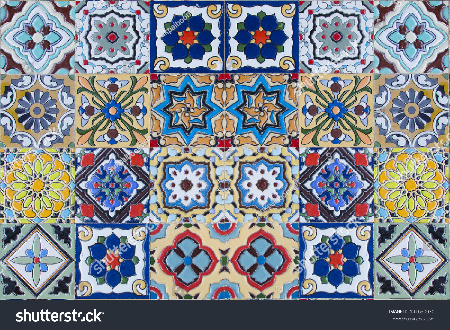 ceramic tiles patterns from Portugal. | EZ Canvas
