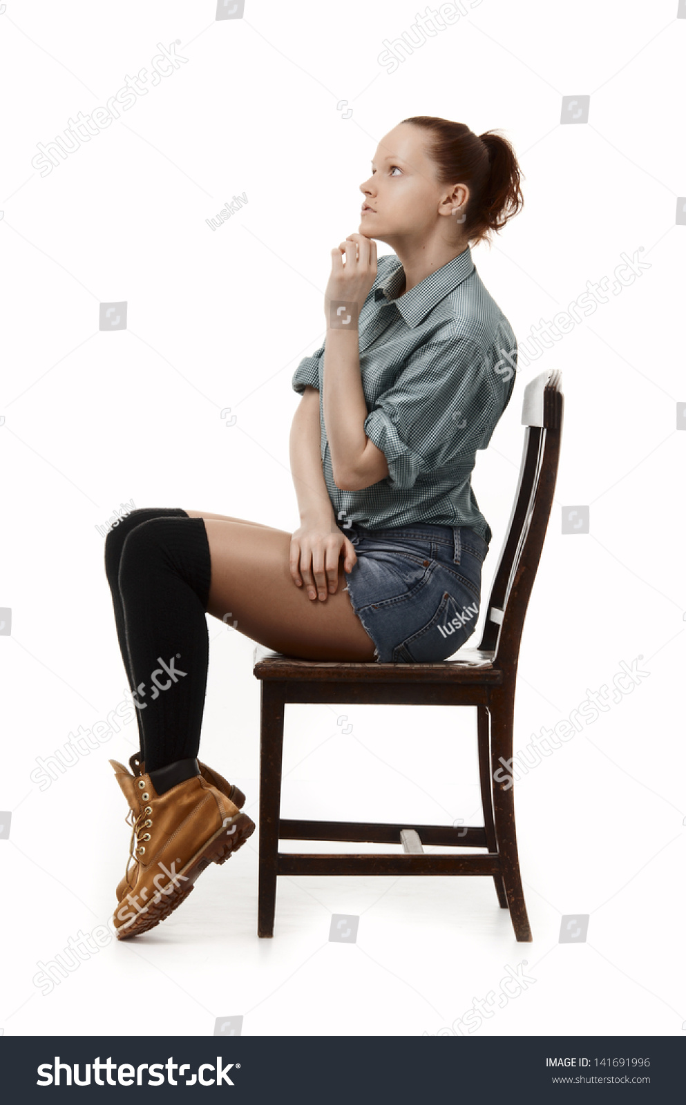 Student sitting on chair