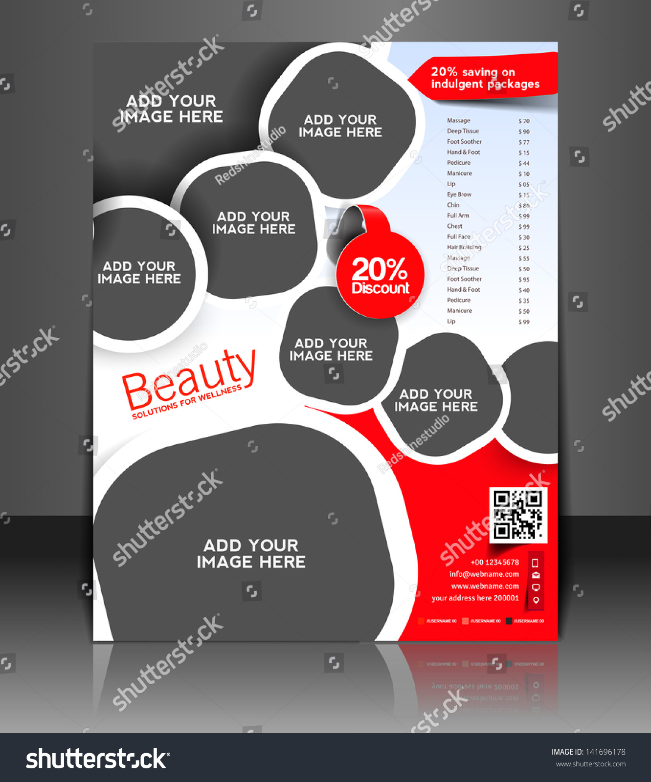 vector beauty salon brochure flyer magazine stock vector  vector beauty salon brochure flyer magazine cover poster template