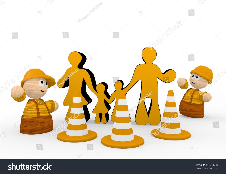 dark orange cute builder 3 d graphic stock illustration 141715963