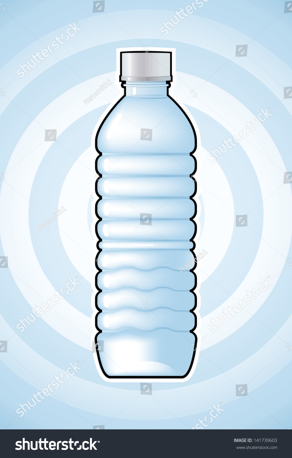 Vector Drawing Water Bottlewater Bottleeasy Edit Stock ...