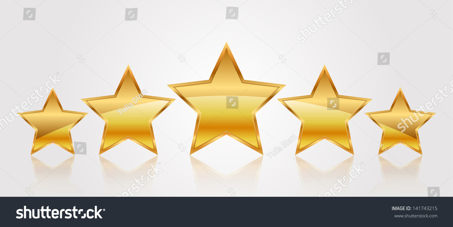 Vector Illustration 5 Gold Stars Stock Vector 141743215 ...