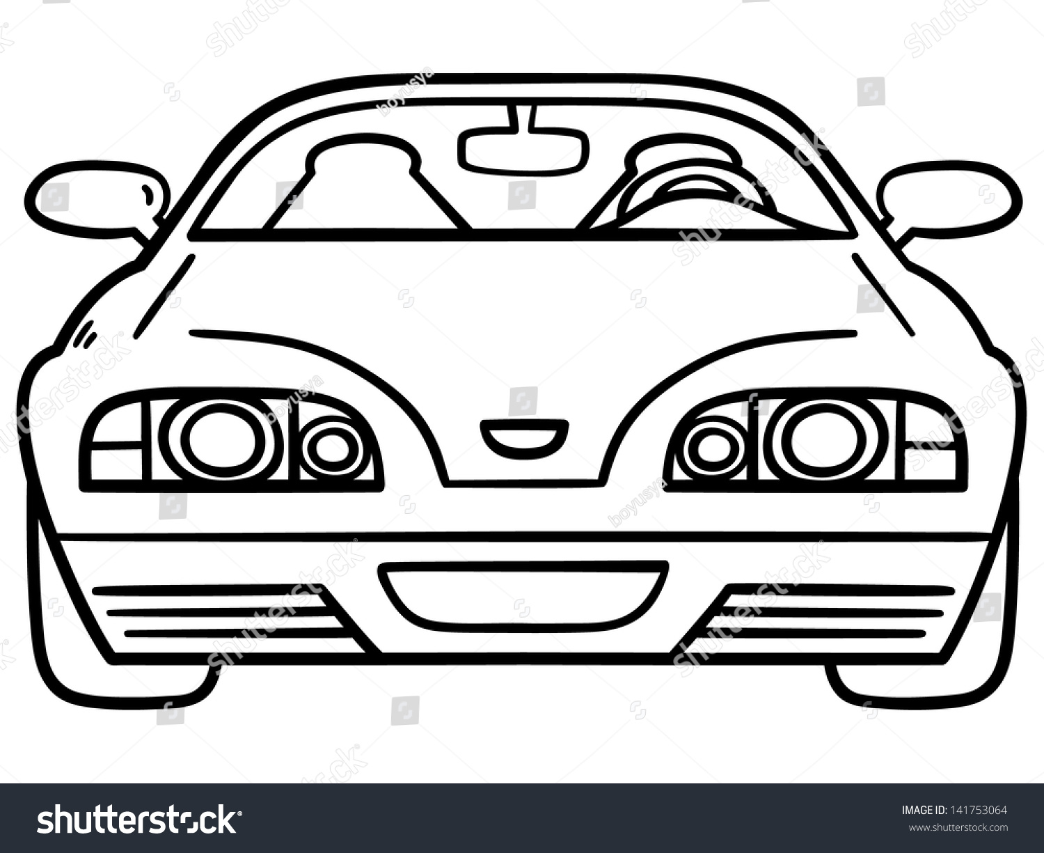 Vector Illustration Car Coloring Book Stock 141753064