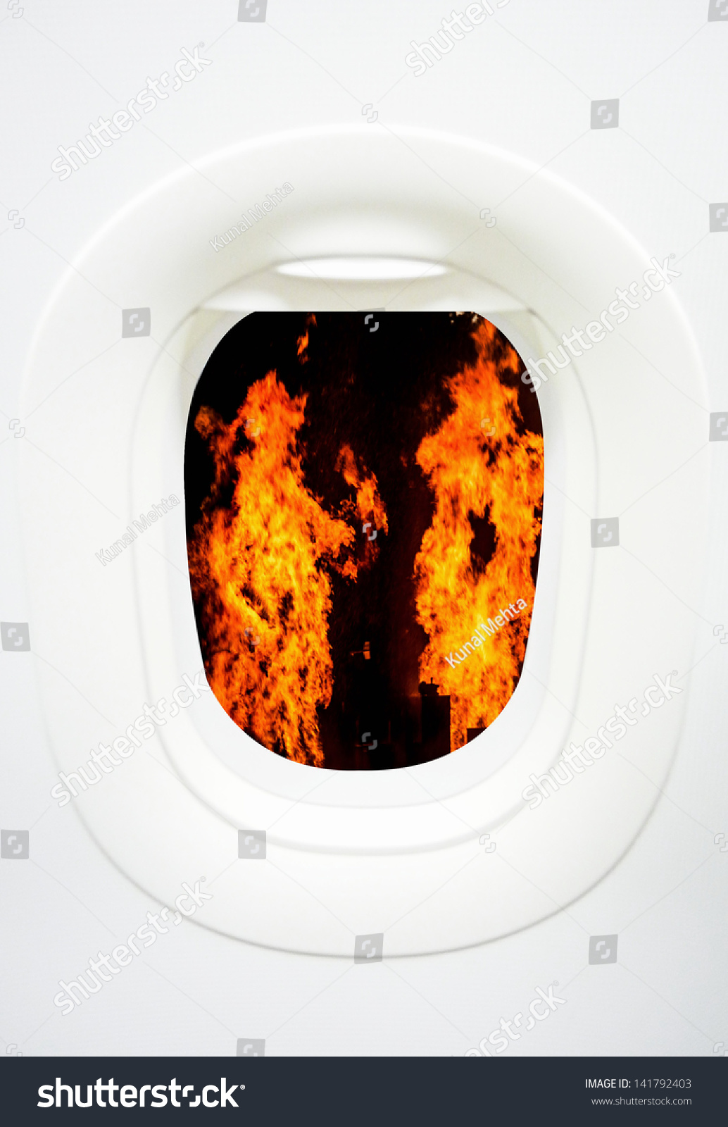 Concept Visualizing Airplane Air Craft Fire Stock Photo Edit Now