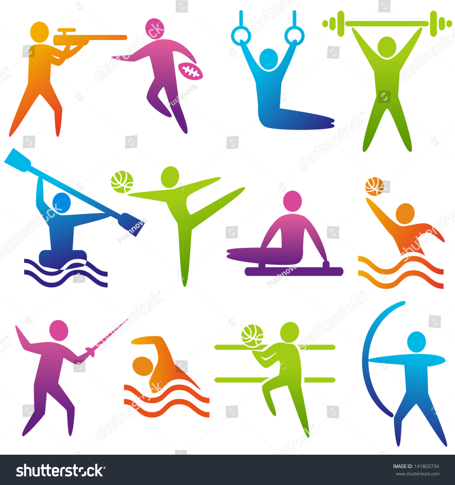 royalty free set of sports icons shooting rugby 141803734 stock rh avopix com Fencing Match Clip Art Deck Clip Art