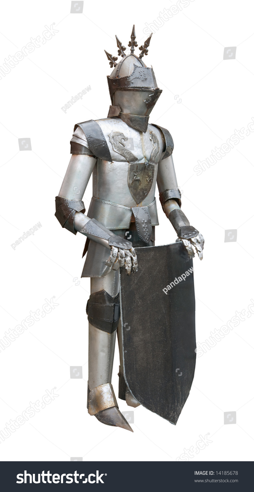 Real Medieval Knight Armor Isolated On Stock Photo ...
