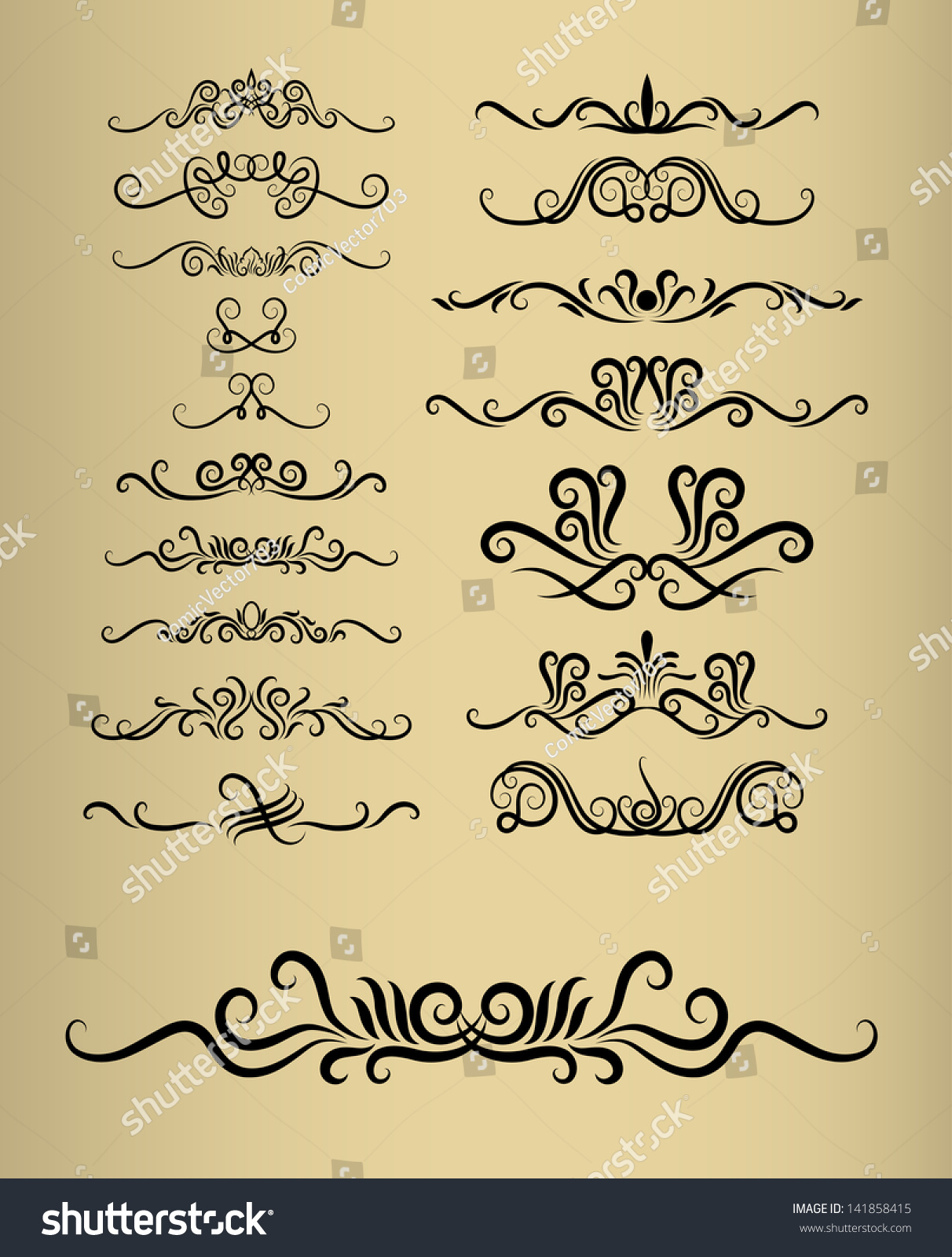 Floral decorations 17 vintage decorative flora ornaments for S letter decoration