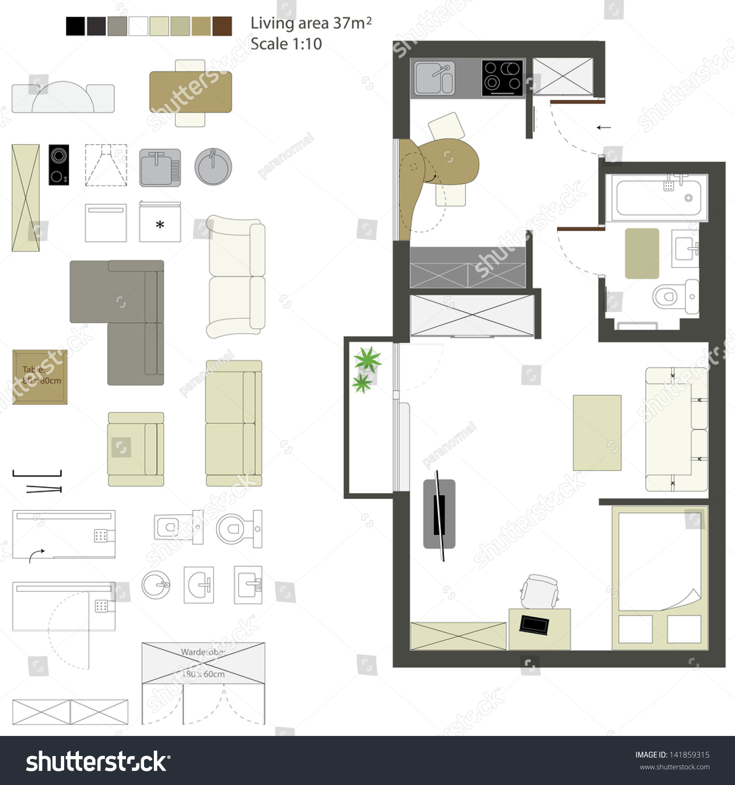 Designers office flat illustration Vector  Free Download