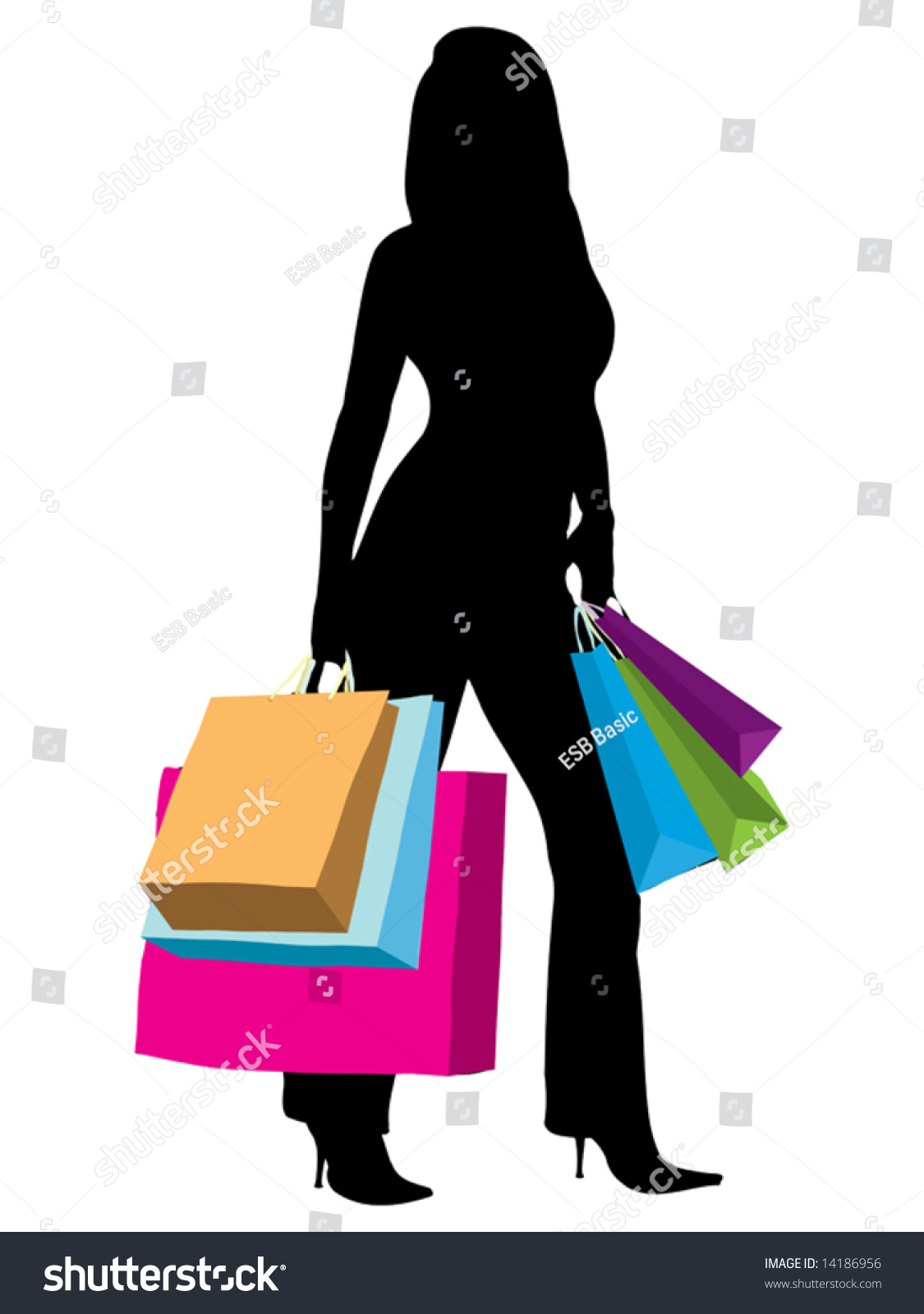 Home Design Cheats For Ipad Woman Shopping Silhouette Woman Silhouette Illustration