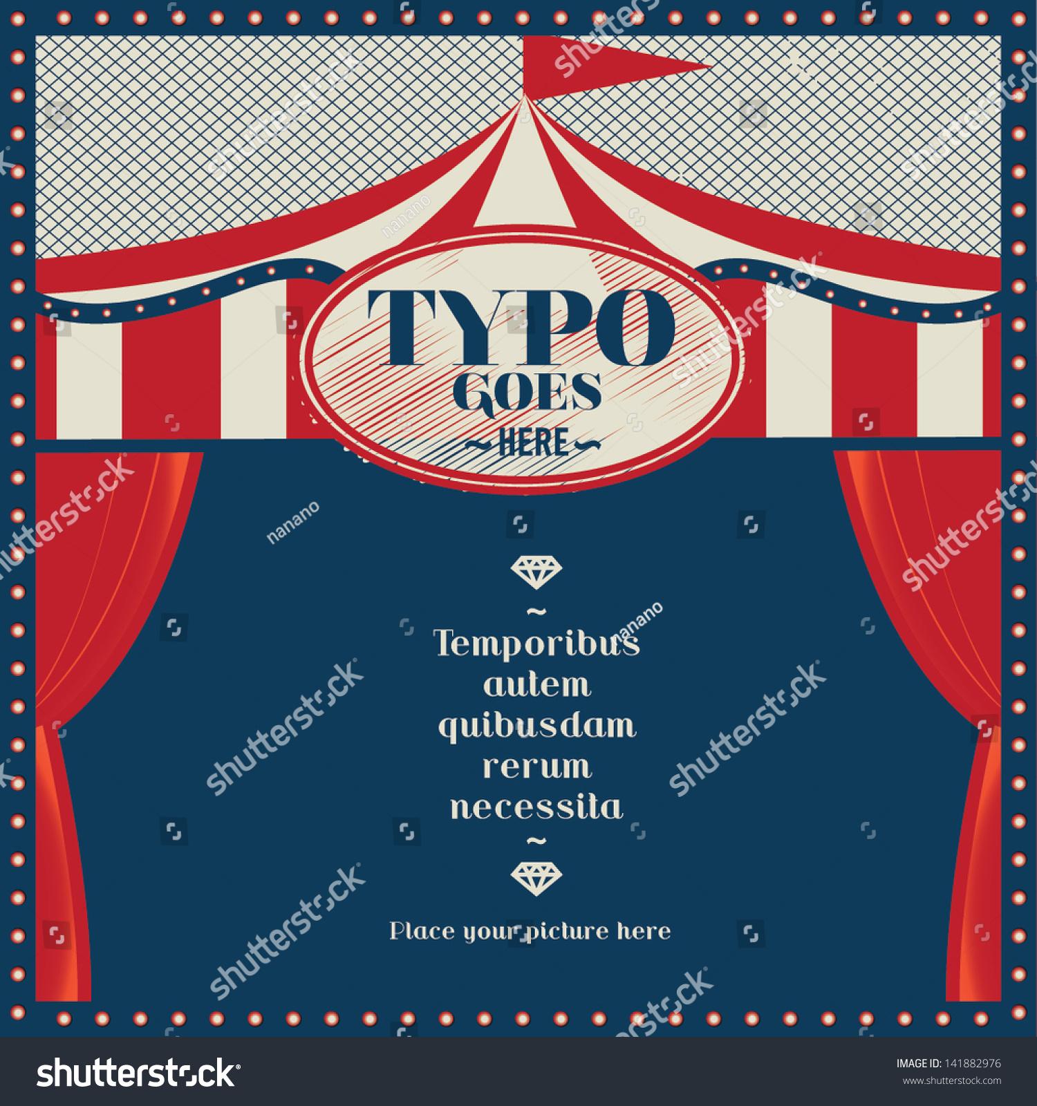 Beach Theme Card Stock: Circus Theme Wedding Invitation Card/ Greeting Card