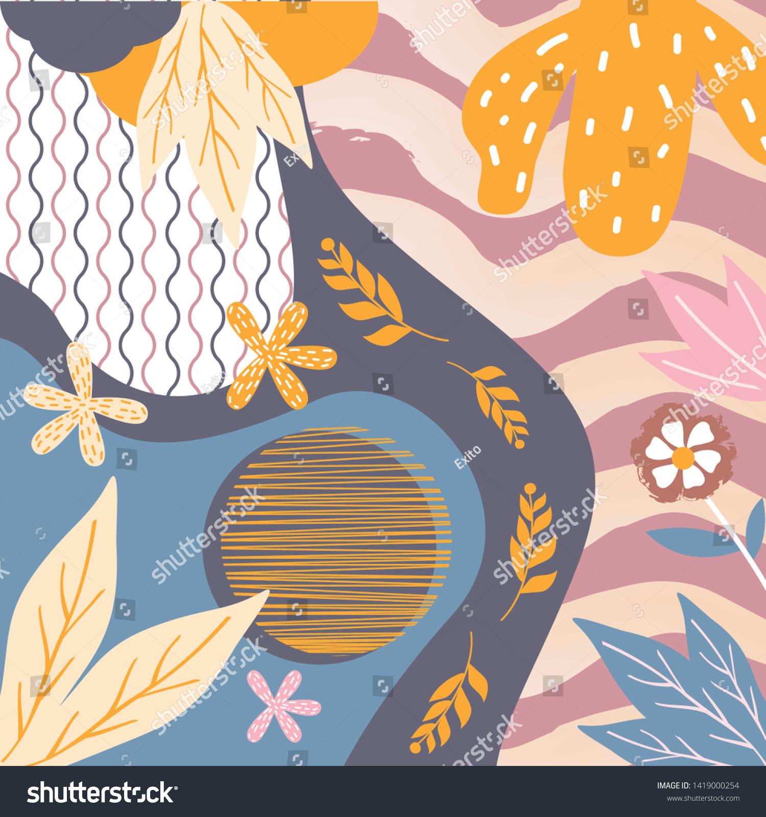 Abstract Silk Scarf Creative Hijab Design Stock Vector (Royalty