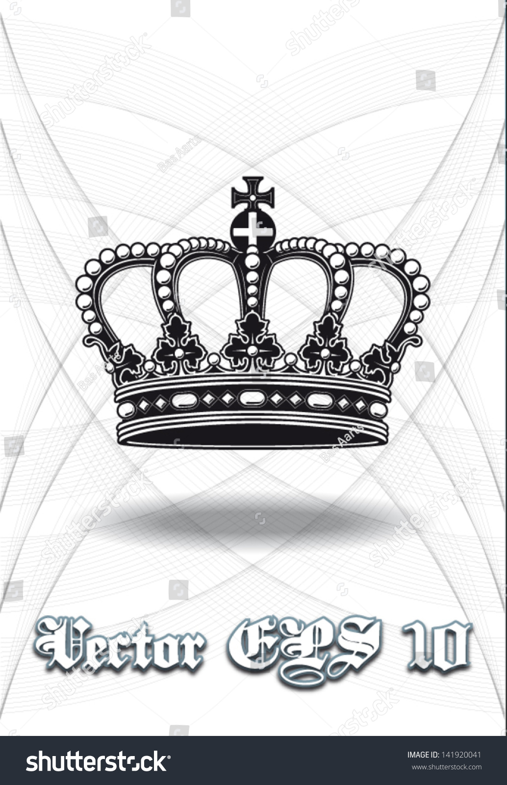 High Definition Vintage Baroque Crown Isolated Stock ...