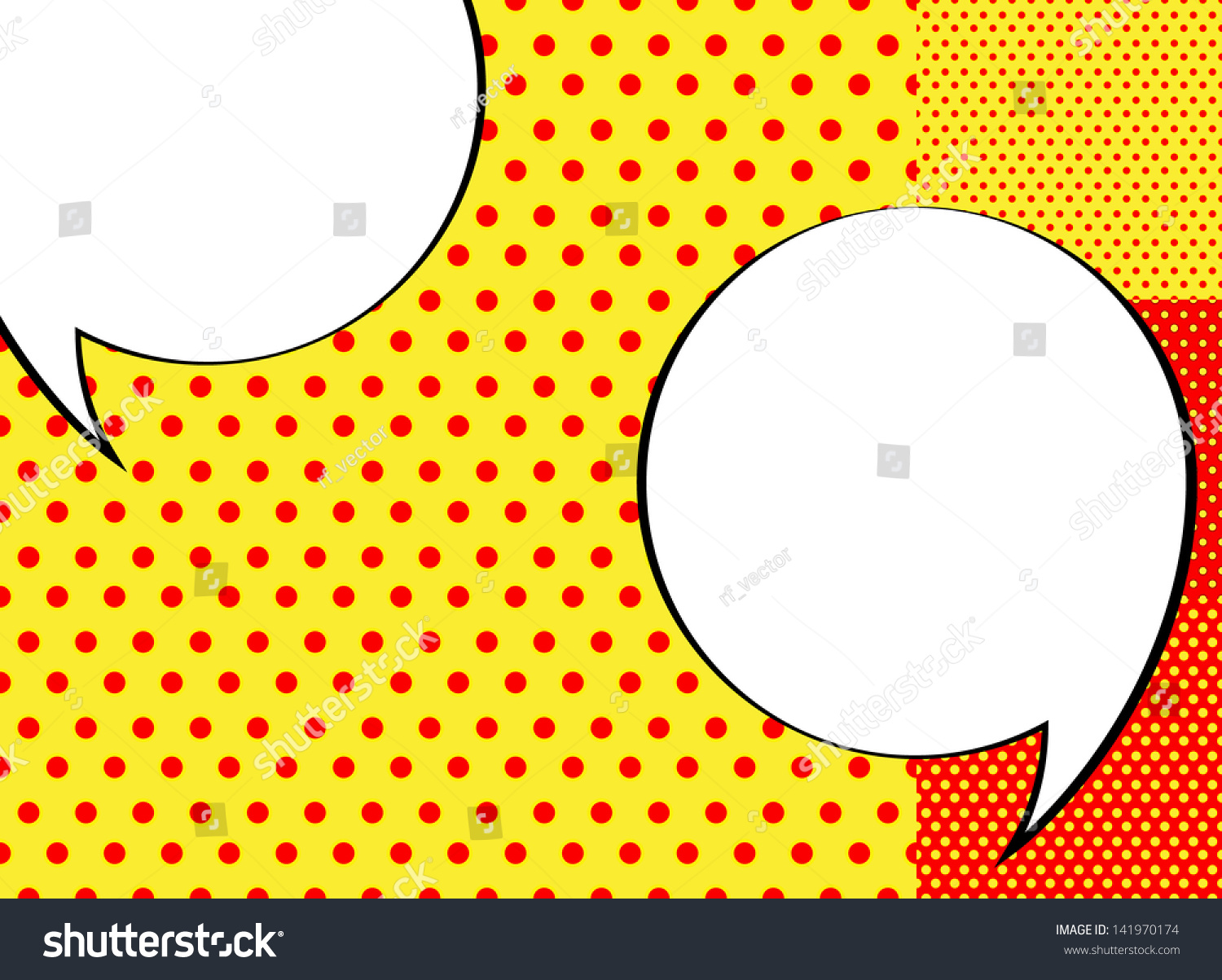 Popart Background Speech Bubbles Stock Vector 141970174