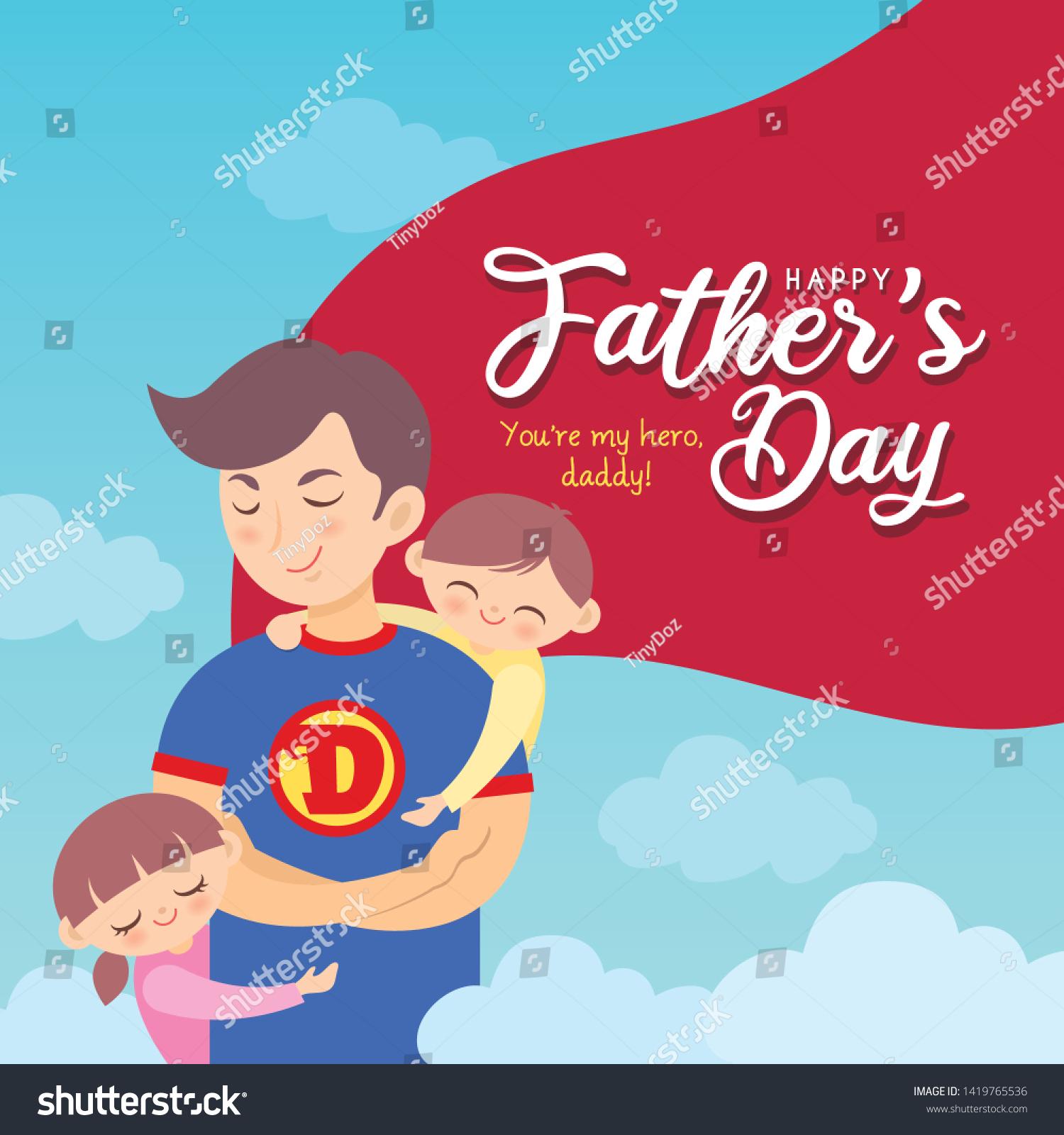 Superhero Fathers Day Card Birthday Card For Dad Daddy Super Dad