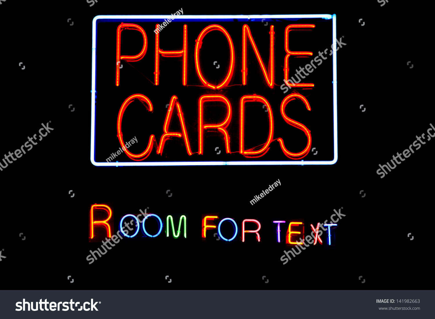 Neon Signs Letters Words Symbols Isolated Stock Photo (Edit