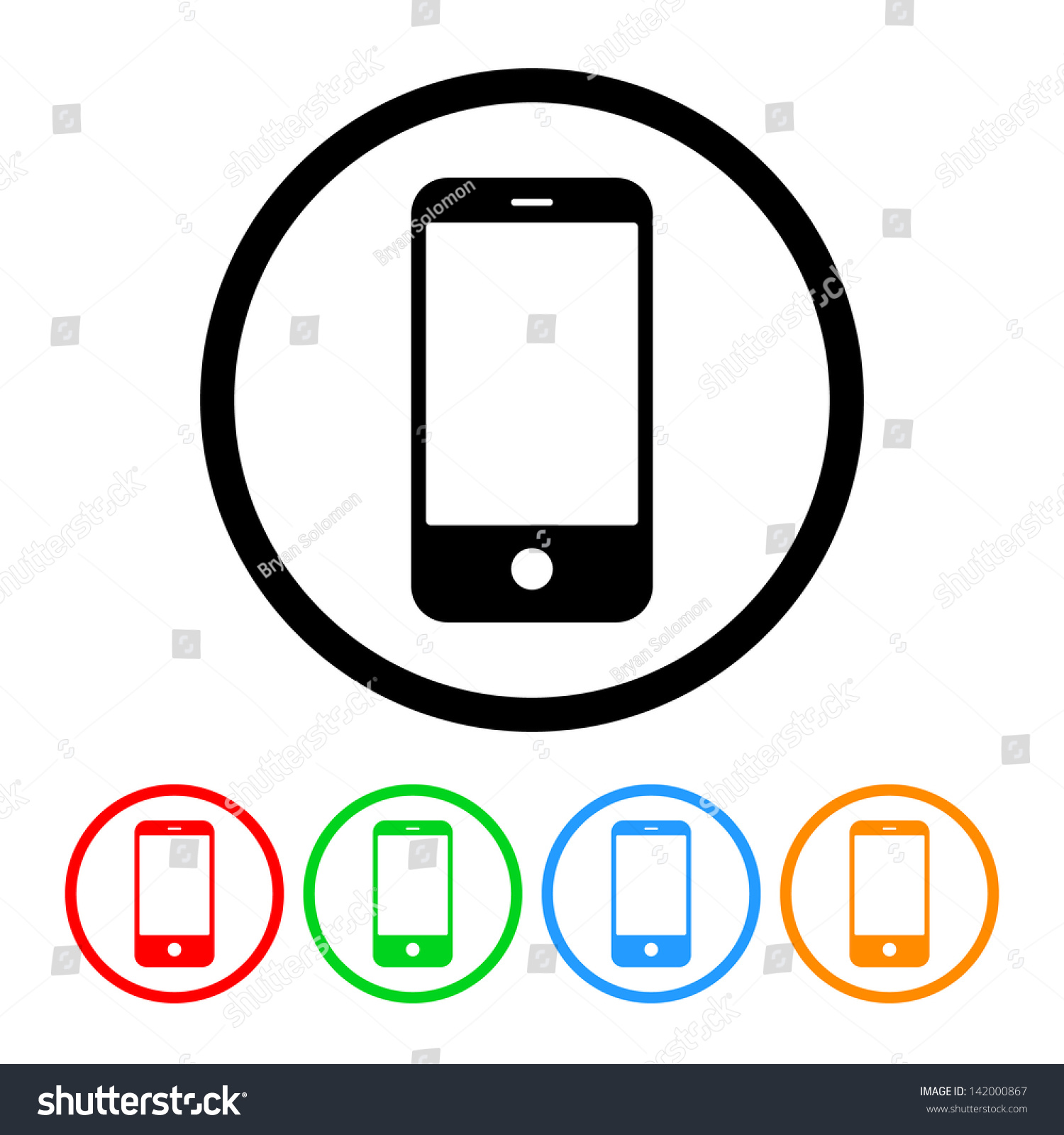 Smartphone Cell Phone Icon Vector Format Stock Vector ...