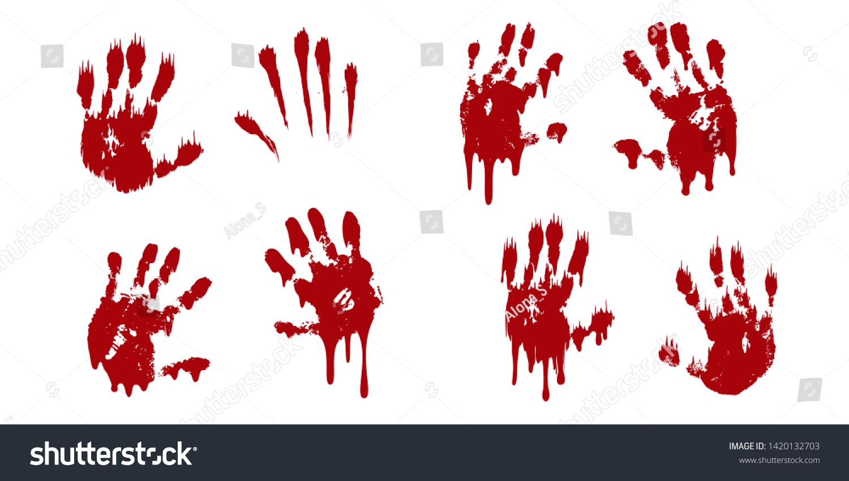 mancha de sangre en el dedo