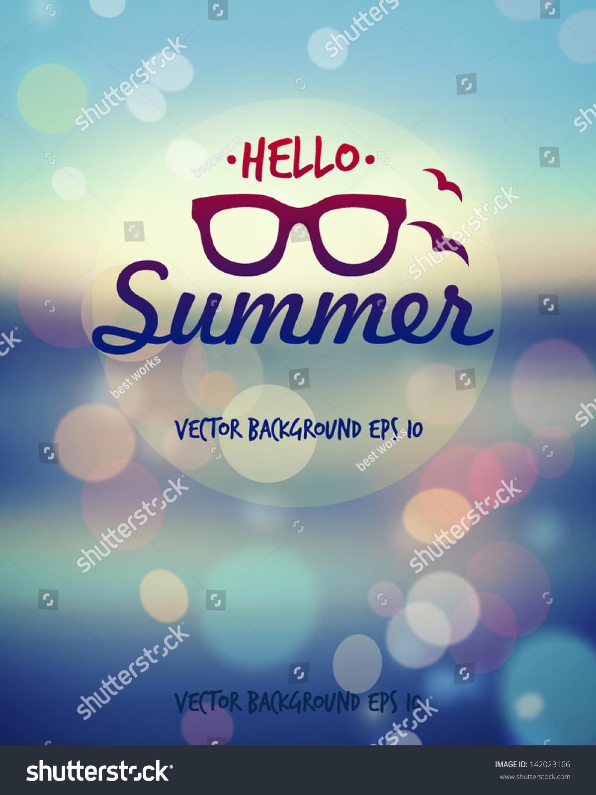 Summer Poster Vector Stock Vector 142023166 Shutterstock