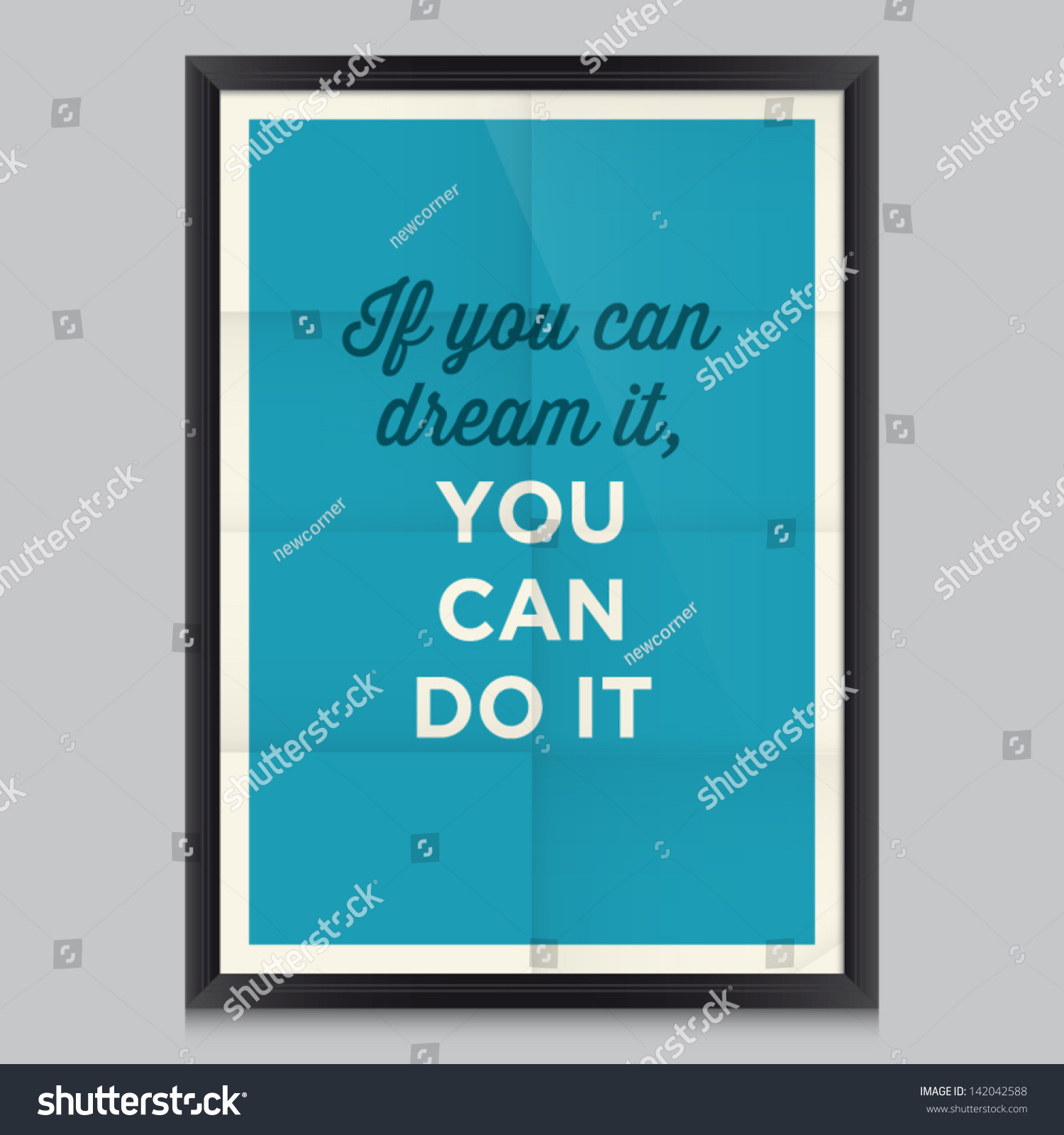 Inspirational Motivational Quotes Poster By Walt Stock Vector ...