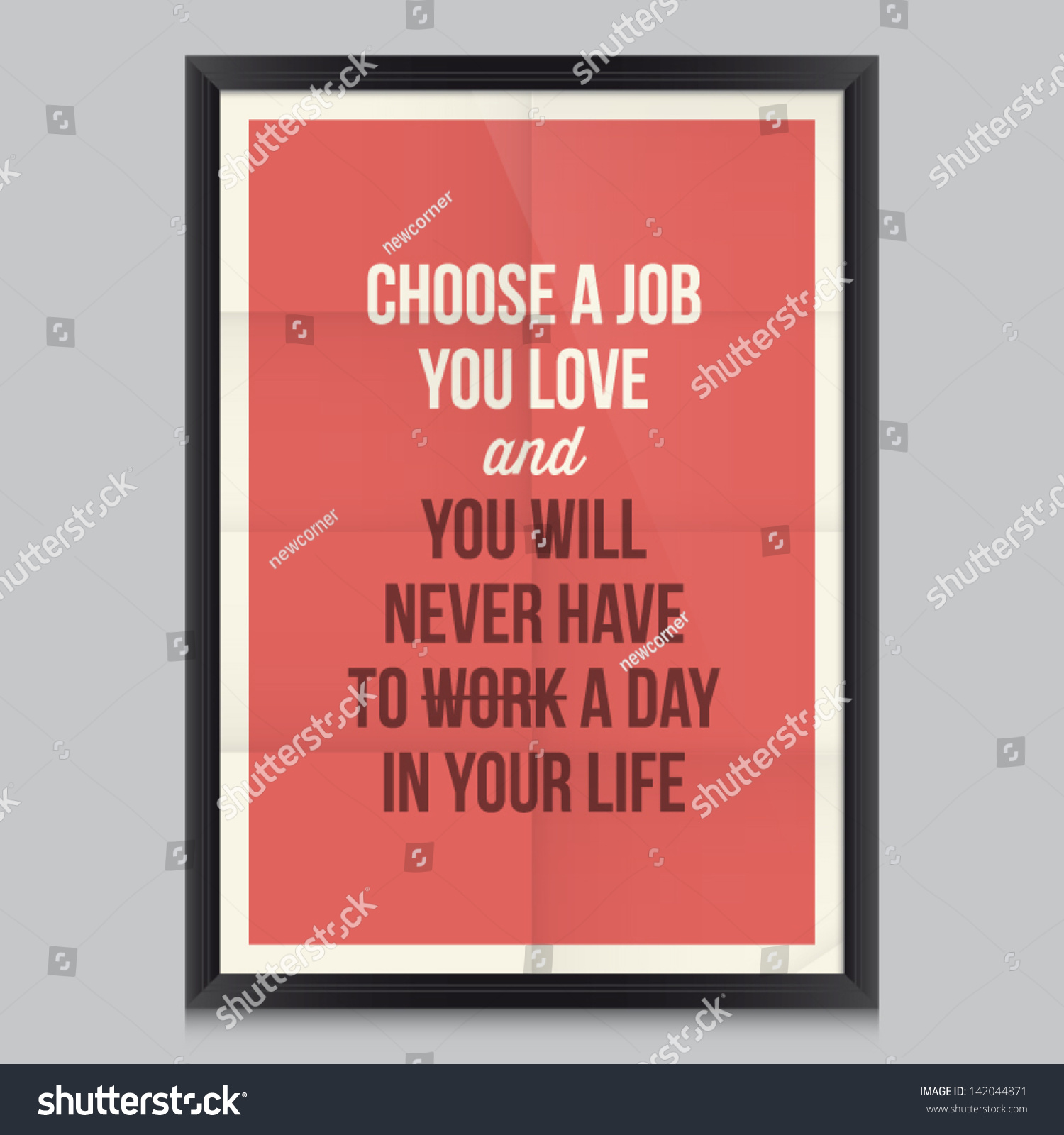 Work Quote Poster By Confucius Effects Poster Frame