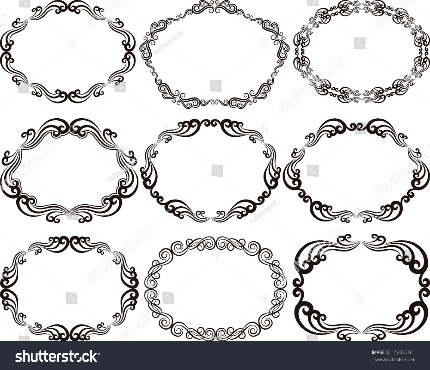 decorative frames oval - Decorative Frames