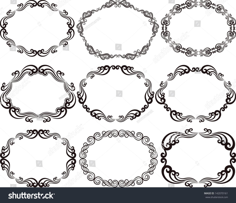 decorative frames oval - Decorative Picture Frames