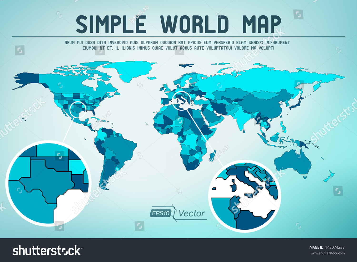 Abstract simple world map eps 10 vector vector de stock142074238 abstract simple world map eps10 vector design gumiabroncs Image collections