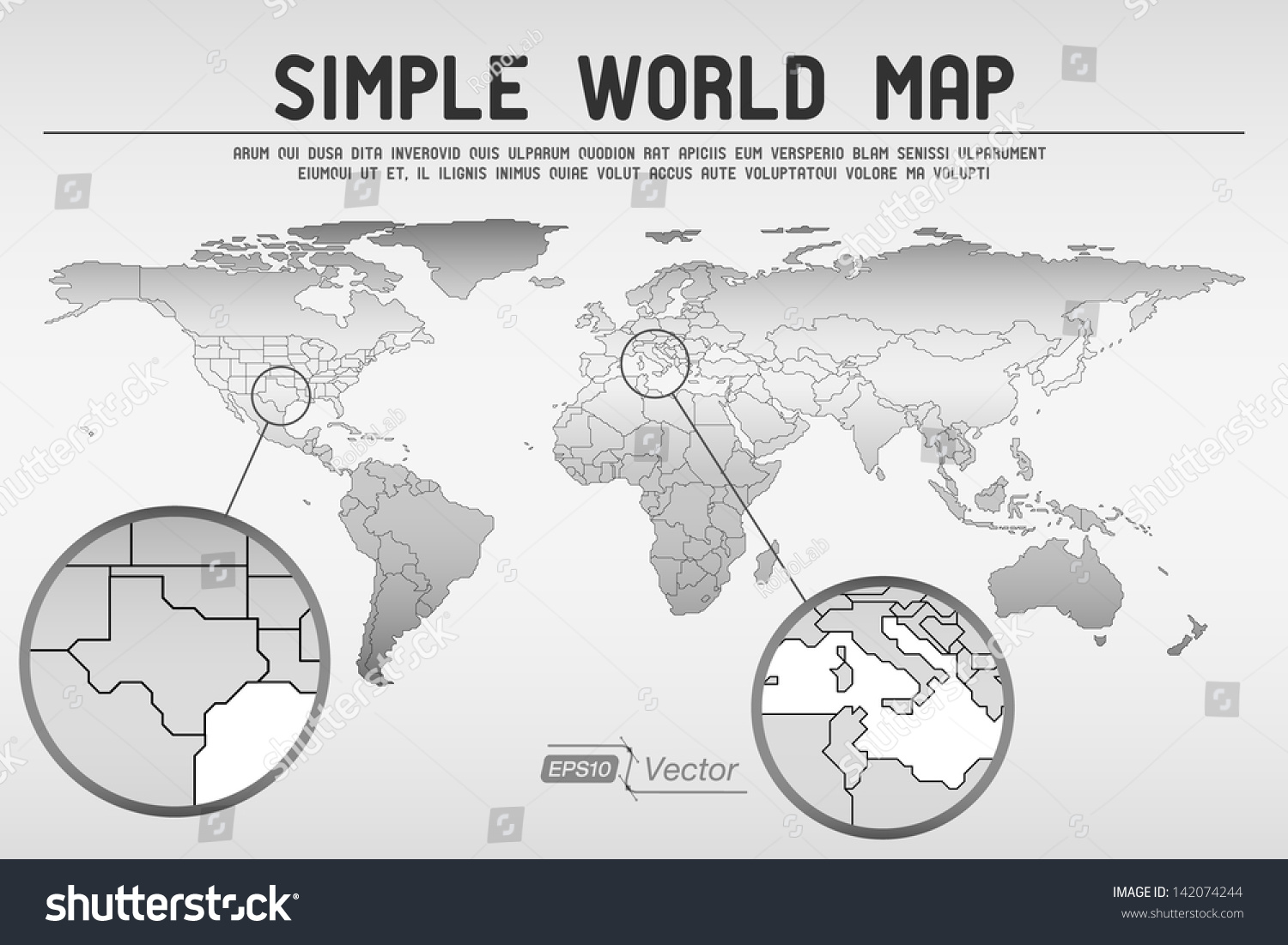 Abstract simple world map eps 10 vector stock vector 142074244 abstract simple world map eps10 vector design gumiabroncs Image collections