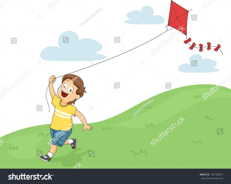 flying kite illustration - photo #11