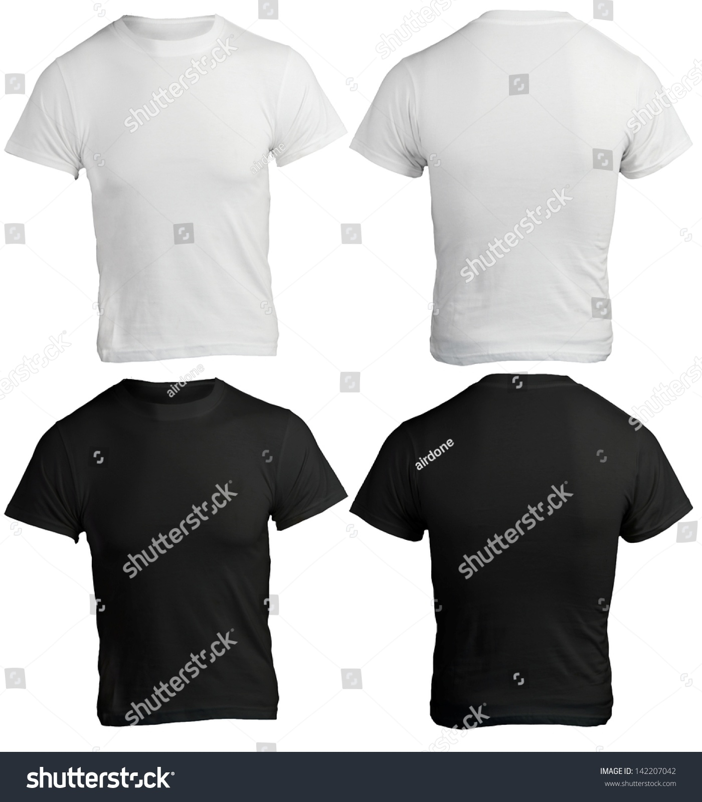 Male Shirt Template Black White Front Stock Photo Edit Now