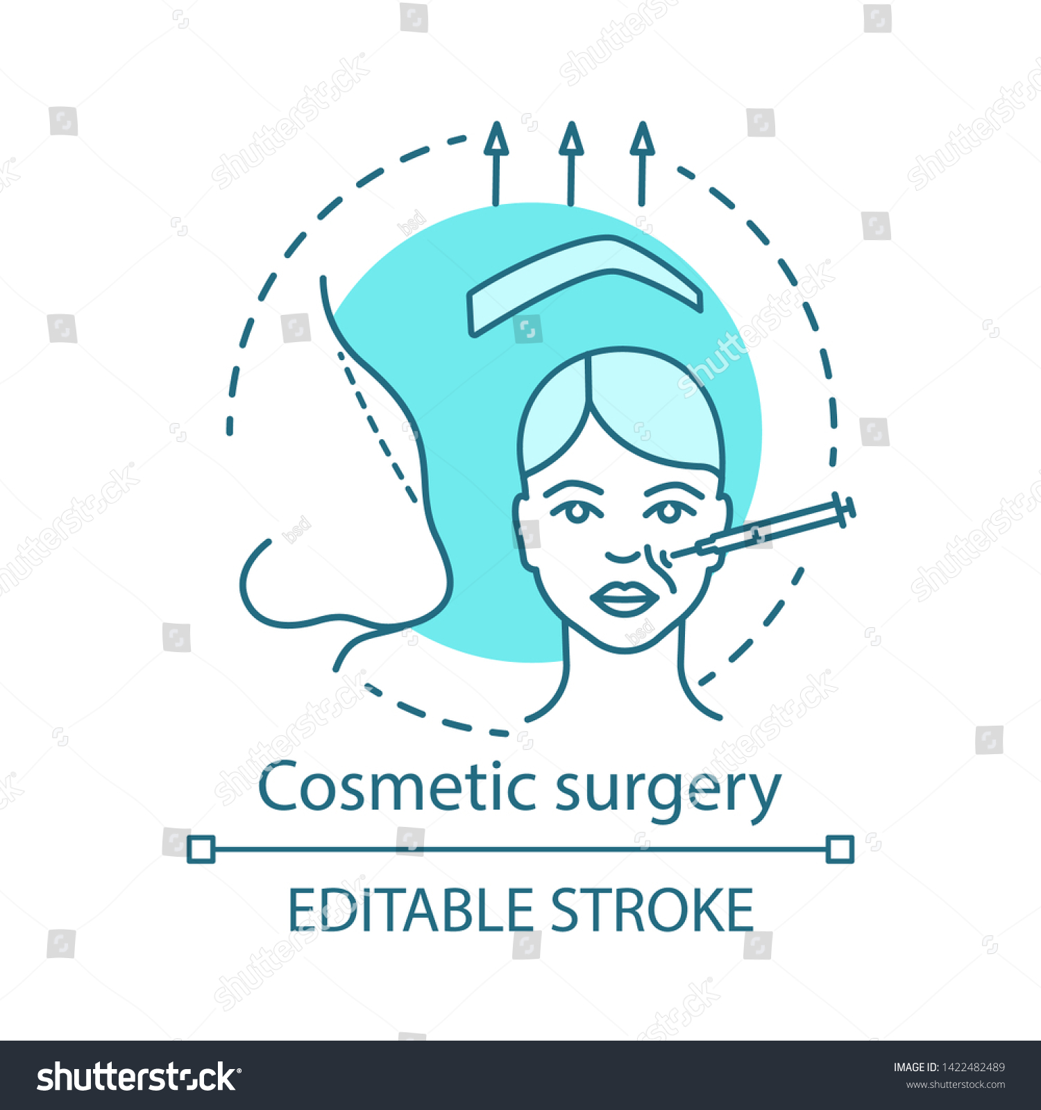 Cosmetic Surgery Concept Icon Person Appearance Stock Vector Royalty Free 1422482489 ✓ free for commercial use ✓ high quality images. shutterstock