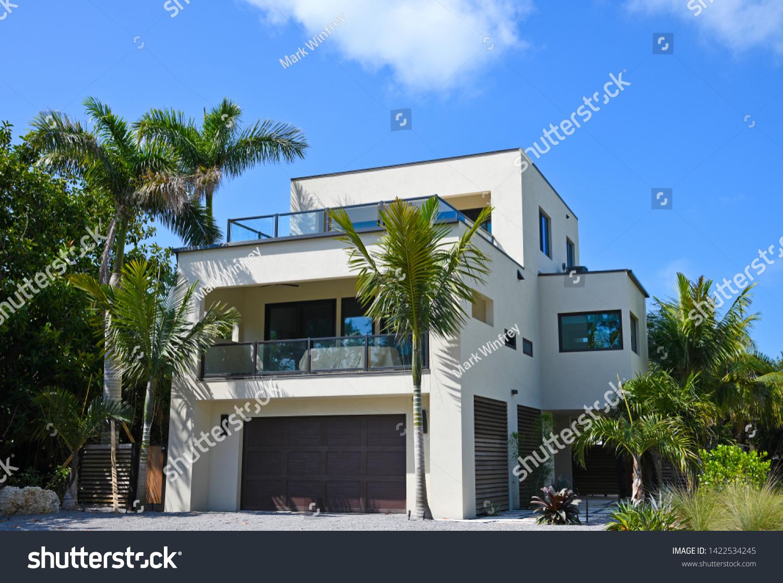 stock-photo-beautiful-new-florida-house-