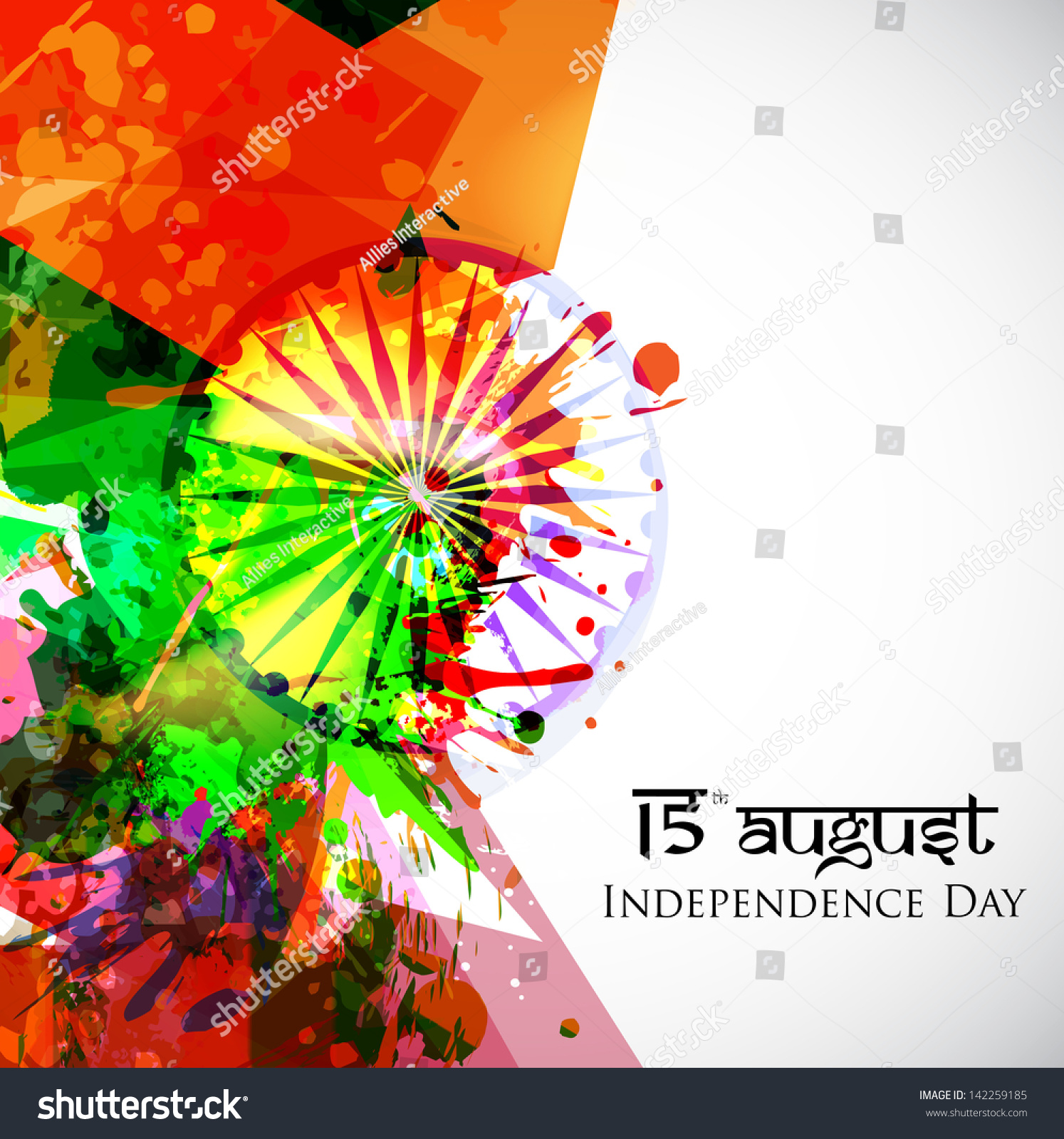 Colors website ashoka - Indian Independence Day National Flag Colors Background With Ashoka Wheel