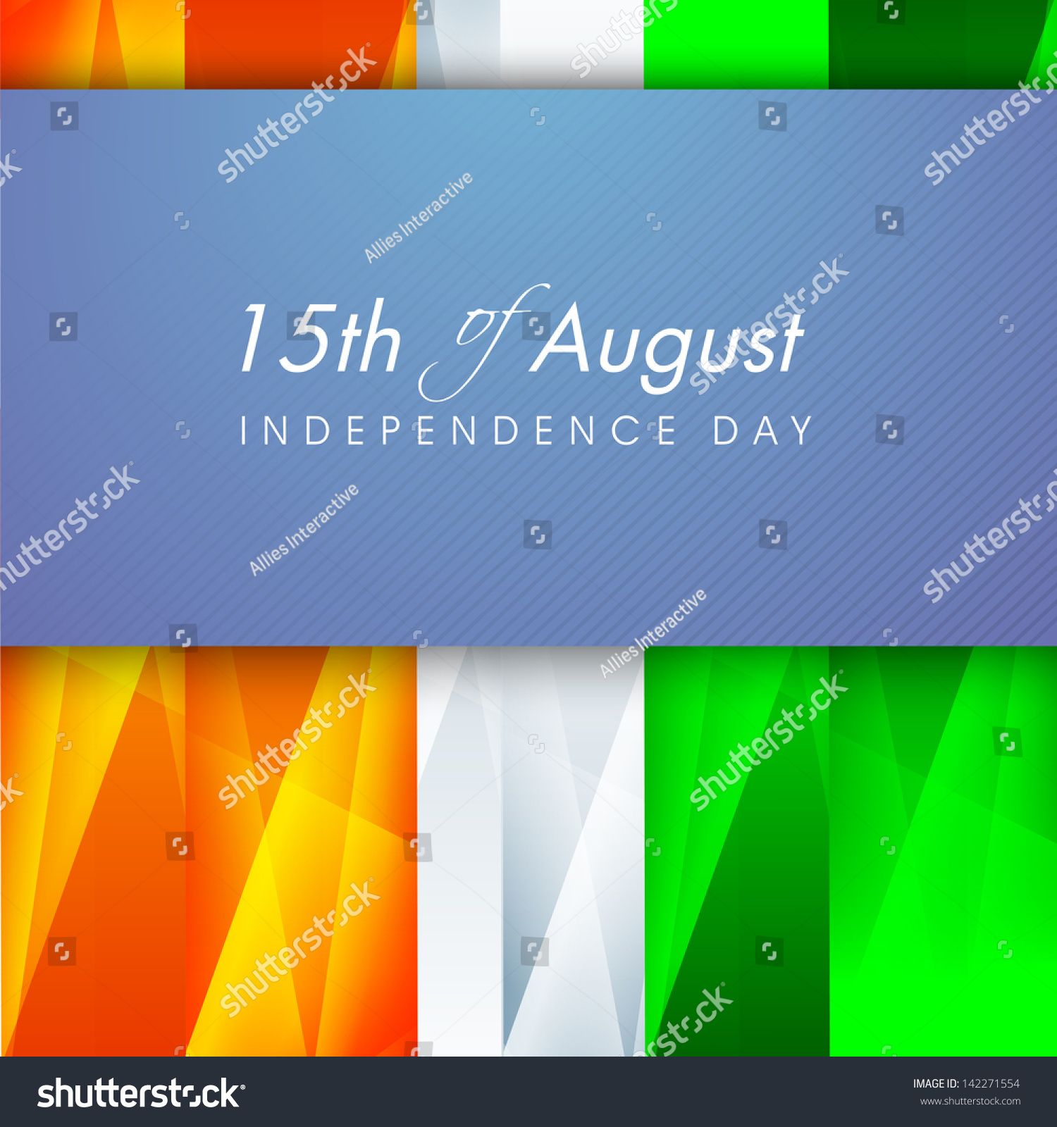 Stock Vector Indian Independence