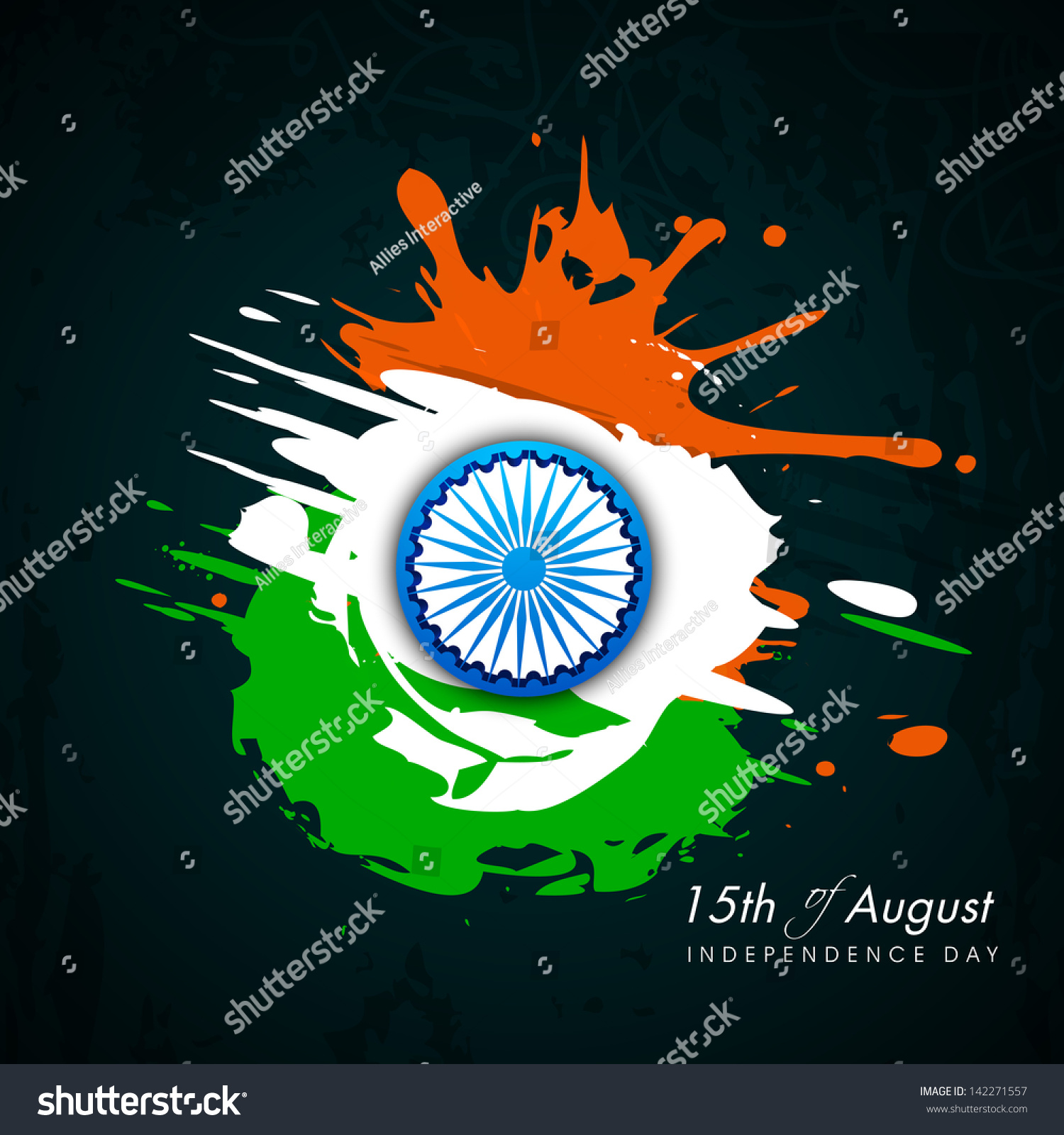 Colors website ashoka - Indian Independence Day Background With National Flag Colors And Ashoka Wheel